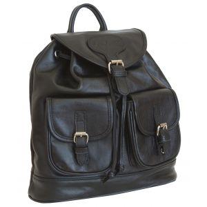 Женский кожаный рюкзак Arno black