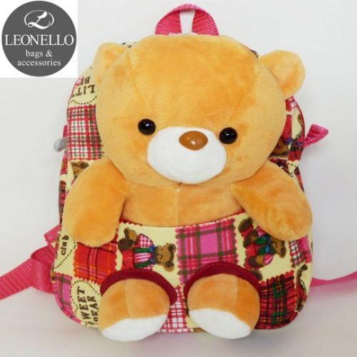 Детский рюкзак с игрушкой - Мишка