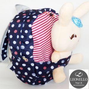 Детский рюкзак с игрушкой - Зайчик